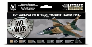 Vallejo 71616 Zestaw Air War 8 farb - USAF colors post WWII to present Aggressor Squadron Part I