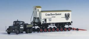 Kibri 13570 Ciągnik Kaelble Z6 R2A 100 z przyczepą do transportu wagonów