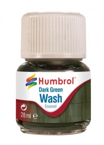 Humbrol AV0203 Enamel Wash Dark Green 28ml