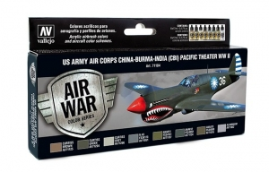 Vallejo 71184 Zestaw Air War 8 farb - US Army Air Corps Colors (CBI) Pacific Theater WWII