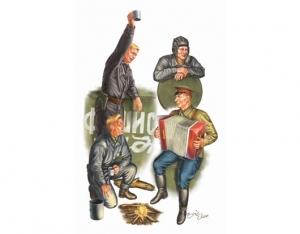 Trumpeter 00413 Figurki - Radzieccy czołgiści - 1:35
