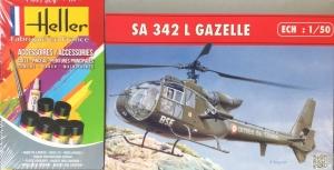 Heller 56486 Starter Set - SA 342 L Gazelle 1:50