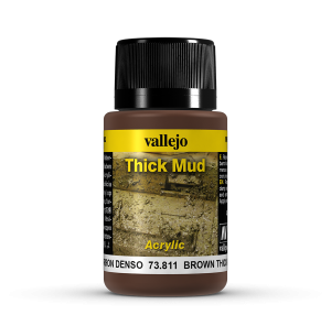 Vallejo 73811 Thick Mud 40 ml. Brown Mud