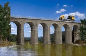 Kibri 39724 Kamienny most kolejowy jednotorowy
