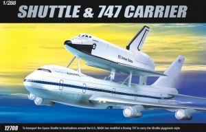 Academy 12708 Space Shuttle & Boeing 747 1:288