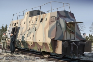 Hobby Boss 82924 Wagon piechoty z niemieckiego pociągu pancernego BP-42 - 1:72