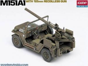 M151A1 with 105 mm recoilless gun