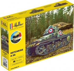 Heller 57132 Starter Set - Lekki czołg Hotchkiss H35 - 1:35