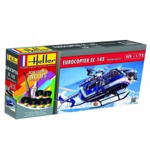 Heller 56378 Starter Set - Eurocopter EC 145 Gendarmerie - 1:72