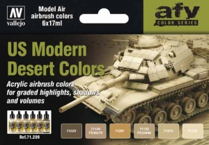Vallejo 71209 Zestaw Model Air 6 farb - US Modern Desert Colors