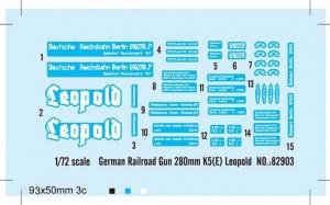 Hobby Boss 82903 German 280mm K5(E) Railway Gun Leopold - 1:72