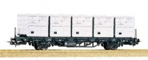 Wagon platforma Lb 4010, DR , Ep. VI