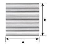 Plastruct 91511 Płyta Styren żebrowana 178x300x0,5 Beżowa