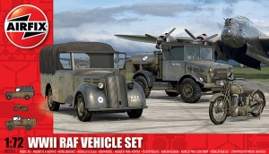 WWII RAF Airfield Vehicles Set 1:72