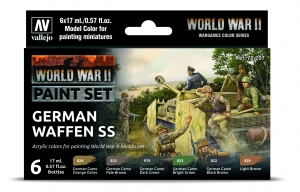 Vallejo 70207 Zestaw World War II 6 farb - German Waffen SS