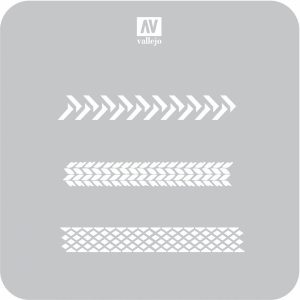 Vallejo ST-TX002 Szablon Tyre Marks, 1:35