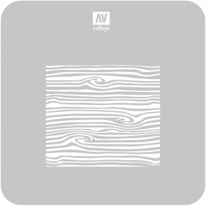 Vallejo ST-TX007 Szablon Wood Texture nr 2, 1:35
