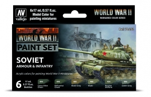 Vallejo 70202 Zestaw World War II 6 farb - Soviet Armour & Infantry