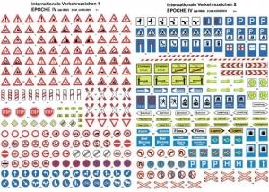 Znaki drogowe - Niemieckie, Ep. IV, skala H0