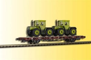 Kibri 26256 Wagon platforma z dwoma Mercedes Trac