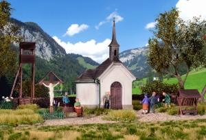 Kibri 39780 H0 Kaplica z akcesoriami w Hirschbichl