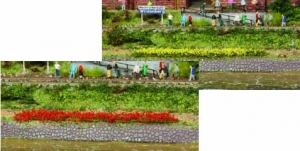 Paski trawy żółtej, czerwonej 5-6 mm, 10 szt.