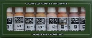 Vallejo 70124 Zestaw Model Color 8 farb - Face & Skintones