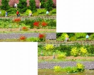Kępy trawy żółtej, czerwonej 5-6 mm, 100 szt.