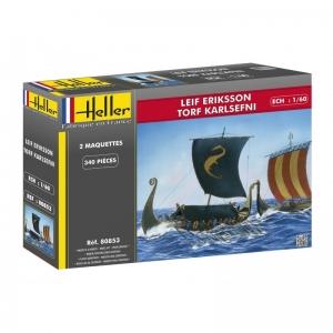 Heller 80853 Łodzie Wikingów Leif Erikson & Torf Karlsefni 1:200