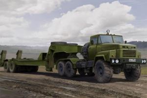 Hobby Boss 85523 Samochód ciężarowy KrAZ-260B z naczepą MAZ/ChMZAP-5247G - 1:35