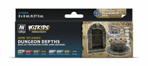 Vallejo 80251 Zestaw Wizkids Premium 8 farb - Dungeon Dephts