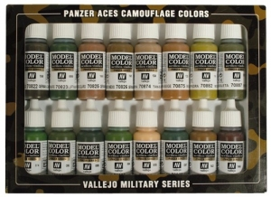 Vallejo 70179 Zestaw Panzer Aces 16 farb - Camouflage