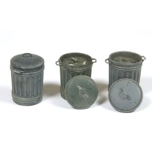 Vallejo SC212 Diorama Accessories Kosze na śmieci #1 1:35
