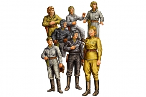 Hobby Boss 84411 Figurki - Rosyjska załoga czołgu - 1:35