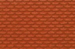 Mur z czerwonej cegły H0/TT 28x14 cm