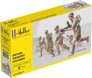 Heller 49609 Figurki - 8 Armia Brytyjska - 1:72