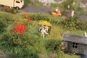 Kępy trawy żółtej, czerwonej 10 mm, 50 szt.