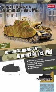 Academy 13525 Sturmpanzer IV Brummbär Ver. Mid 1:35