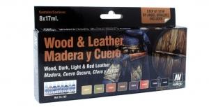 Vallejo 70182 Zestaw Model Color 8 farb - Wood & Leater