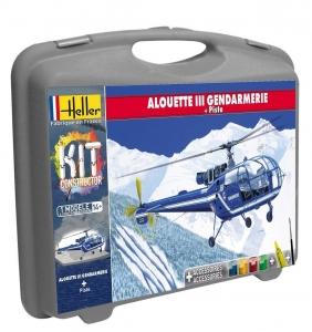 Heller 60286 Constructor Kit - Alouette III Gendarmerie + podstawka - 1:72