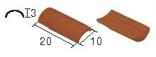 Dachówka arabska czerwona 1:20 150 szt.