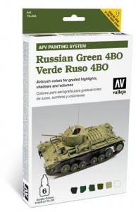 Vallejo 78403 AFV Painting System: Russian Green 4BO