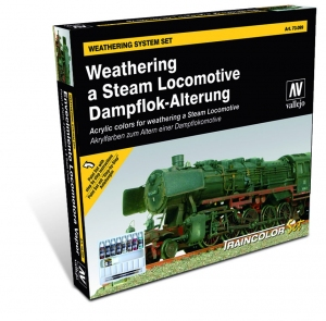Vallejo 73099 Zestaw Train Color 9 farb - Weathering a Steam Locomotive