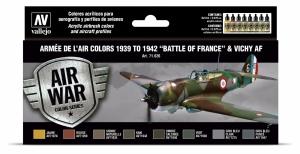 Vallejo 71626 Zestaw Air War 8 farb - Armée De L'air Colors 1939-1942 Battle of France & Vichy AF