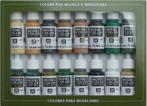 Vallejo 70109 Zestaw Model Color 16 farb - WWII Allieds