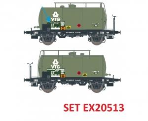 Exact-Train EX20513 Zestaw 2 cystern 24m3 Uerdinger, VTG (nowe logo), DB, Ep. IV