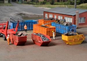 Kibri 38648 H0 Akcesoria - Kontenery na śmieci