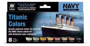 Vallejo 71646 Zestaw Model Air 8 farb - Titanic Colors