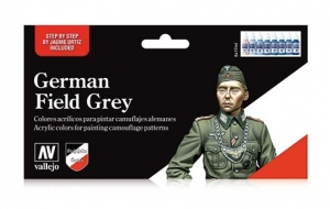 Vallejo 70181 Zestaw Model Color 8 farb - German Field Grey Uniform
