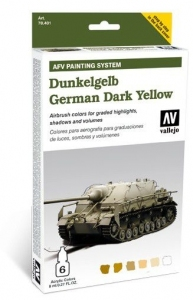 Vallejo 78401 AFV Painting System: German Dark Yellow